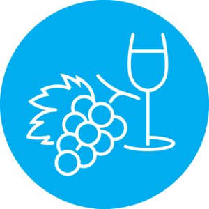 grapes and wine glass